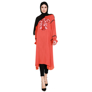 2018 Цветочный Дизайн Марокканский Кафтан Женщин-Мусульманок Платье Абая Джидда