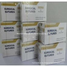 Ácido poliglicólico PGA sutura con la fábrica de agujas (XT-FL434)