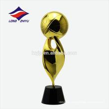 Trofeo de plata del trofeo de Shinny de la aduana del trofeo de oro de 24k
