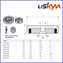 NdFeB Magnetic Pot with Countersunk (P-010)