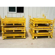 Heavy Duty Metal Staorage Folding Rolling Stillage with Wheels