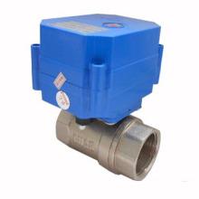 Válvula de bola de latón motorizado de dos vías / tres vías