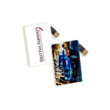 Movimentação personalizada do flash do USB da forma do cartão de crédito do logotipo