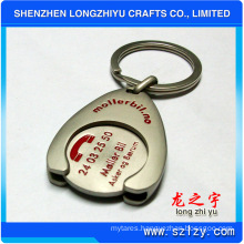 Flexible Floating Metal Keychain with Logo Engrave