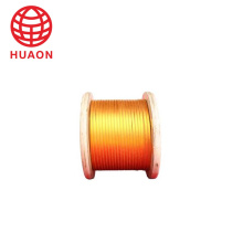 Double Glass-Fiber and Film Covered Copper Flat Wire