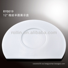 Plato de la demostración de la porcelana blanca durable sana especial