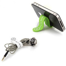 Clip de cable magnético de silicona soporte para teléfono móvil popular
