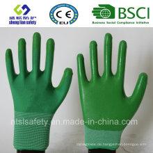 13G Polyester Shell mit Nitril beschichteten Arbeitshandschuhen (SL-N109)