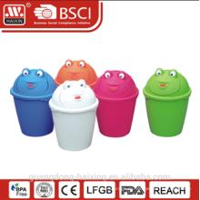 HaiXing популярные пластиковые лягушка картина мусорное ведро
