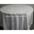 Runde aus Polyester Jacquard Tischdecke für Hochzeit Dekoration hotel