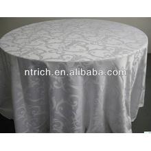 tour de polyester nappe jacquard pour hôtel de décoration de mariage