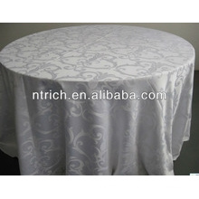 redonda toalha de mesa jacquard poliéster para hotel de decoração de casamento