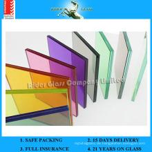 6.38-42.3mm Klares PVB / Farbiges Glas Laminiertes Glas mit AS / NZS2208: 1996