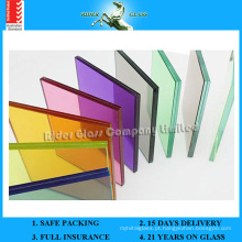 6.38-42.3mm Clear PVB / vidro laminado de vidro colorido com AS / NZS2208: 1996