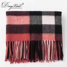 Neueste Design Lady Fashion Woll Schal Übergroße Chunky Tartan Wolle Warme Schal
