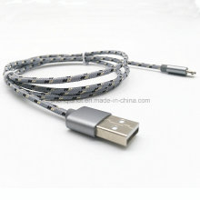 Nylon Braided USB Charge Cable for Micro 5pin