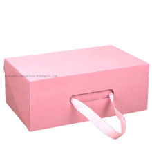 Custom Paper Shoe Box Packaging Storage Box with Handle