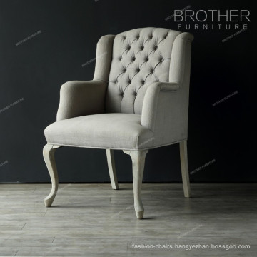 Simple modern Classic European Fabric tufting French chair