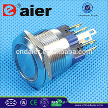 Daier 22mm botão interruptor interruptor de botão de pressão à prova d 'água