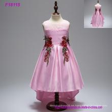 5 colores caliente barato Girls Dress Princesa Childrens desgaste del velo del partido de la muchacha de la boda de la flor de los bebés vestido de niña de las flores vestido de cumpleaños