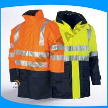 EN471 et ANSI / ISEA 107-2010 Raincoat réfléchissant classe 3