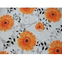 Tissu polyester imprimé à bas prix pour les draps