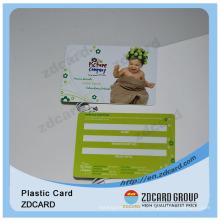 Plástico com impressão em cores sem contato cartão inteligente