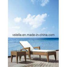 Outsunny Verstellbarer PE Rattan Wicker Patio Chaise Lounge Stuhl
