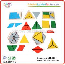 Montessori Ausrüstung - Konstruktive Dreiecke - 5 Boxen