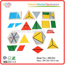Montessori Equipment - Constructive Triangles - 5 Boxes
