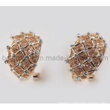 Fashion Simple Tartan Design Earrings