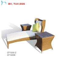 Garten Wicker Chaise Sun Lounge Bett mit Beistelltisch (CF1002L + CF1000E)