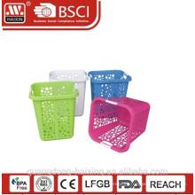 Cesto de roupa quadrado plástico (58L)