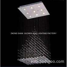 crystal LED ceiling chandelier stair lamp triangle shape