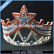 Vente en gros de décorations de couronnes de tiare de rois d'étoiles