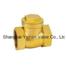 Spring Brass Threaded Check Valve (H14T)