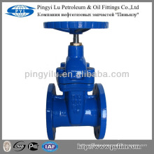 DIN standard soft sealing ductile iron gate valve brass yoke nut PN16 Z45X-16