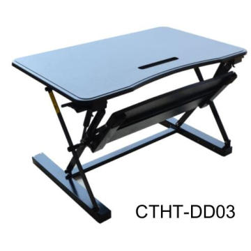 Gas spring small moving adjustable lifting desk mini stand up desk