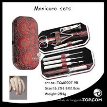 Mens Gifts -11-pc Mens Manicure Set - Pflegeset im schwarzen Lederetui
