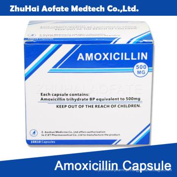 Amoxicilina Cápsula Embalagem Embalagem
