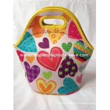 Soft Women Insulated Neoprene Lunch Bag With Ice Pack Custom , Reusable