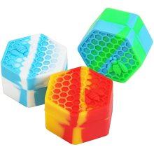 Набор шестиугольных антипригарных силиконовых банок