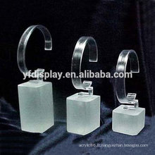 acrylique propre montre présentoir ensemble de 3