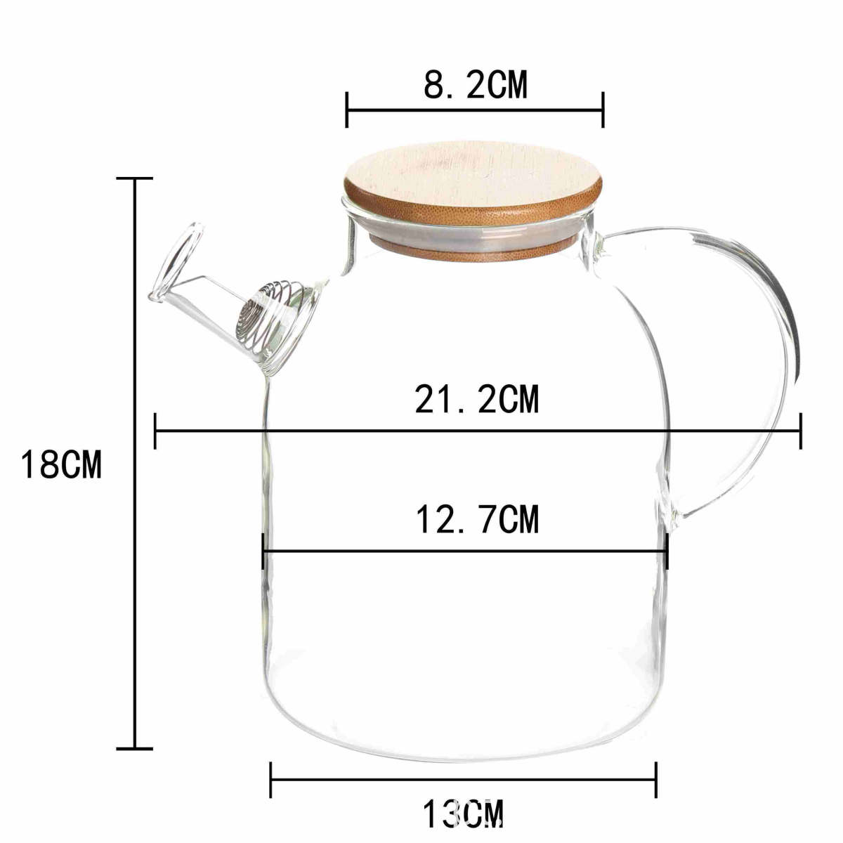 high borosilicate Glass heat cold resistant best quality coffee milk tea water carafe pot jug maker pitcher with baboo airtight lid (9)