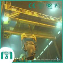 Pont roulant avec capacité de fonderie à crochet 5 tonnes à 74 tonnes