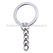 Moda de alta qualidade Metal Flat Split Ring Keychain