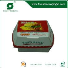Caixa colorida do Hamburger do papel do produto comestível