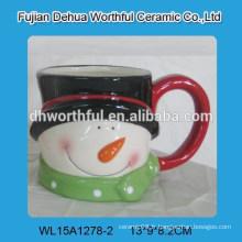 Coupe de bonhomme de neige de Noël en céramique promotionnelle