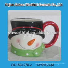 Promotional ceramic Christmas snowman cup