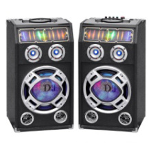 Wireless Double 10 Inch Professional Tower Speakers with Bluetooth and Colorful Light